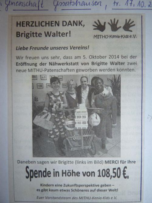 Brigitte Walter Nähwerkstatt | Wir nähen - Aktuell